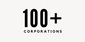 100+ Corporations