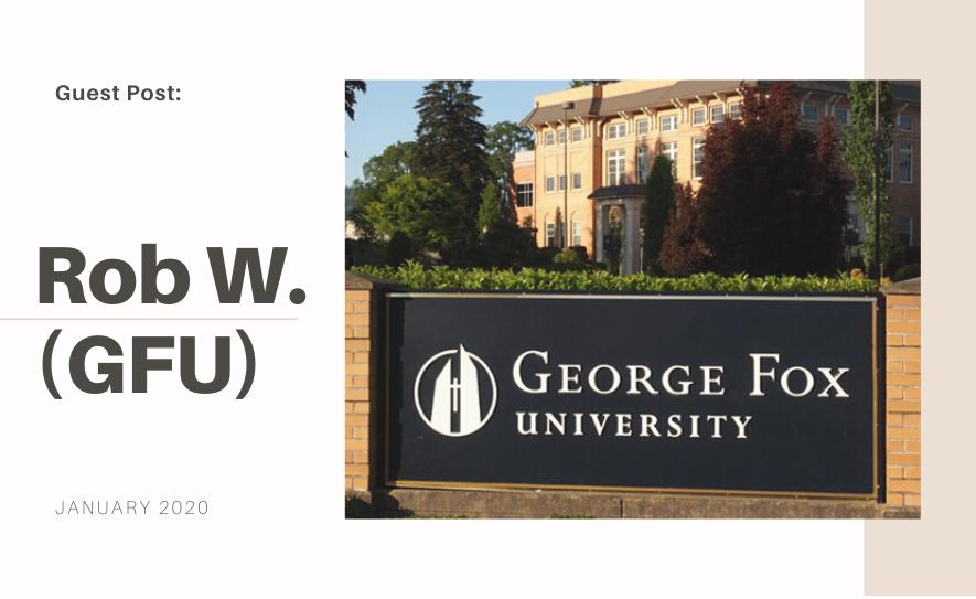 George Fox University Guest Blog Post: Rob Westervelt