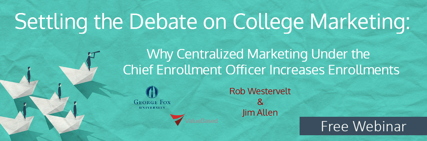 College Marketing Free Webinar Chief Enrollment Officer