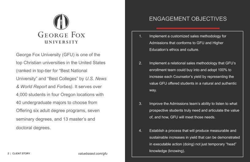 VBI Client Success Story: George Fox University